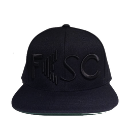 """【残り僅か】FESC """"LOGO"""" Snapback (Black/Black)"""