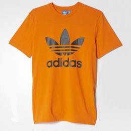 【残り僅か】adidas originals logo tee (Pumpkin)
