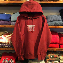"【ラス1】RUGGED ""Mister"" sweat hoody (Burgundy)"