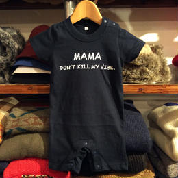 RUGGED kids ''Mama, Don't kill my vibe.'' rompers(Navy×White)