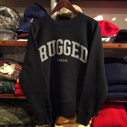 "【残り僅か】RUGGED on Champion ""ARCH LOGO"" reverse weave sweat(11.5oz/Black×Gray)"