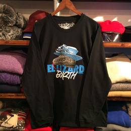 """【ラス1】visualreports """"EL LIZARD BIRTH"""" L/S tee  (Black/ポスター付)"""