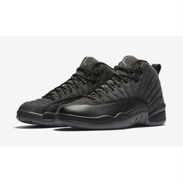 【ラス1】NIKE AIR JORDAN 12 RETRO WOOL (Dark Grey/Metallic Silver)
