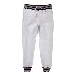 【残り僅か】Champion ''REVERSE WEAVE'' sweat pants rib line  (Gray/Black)