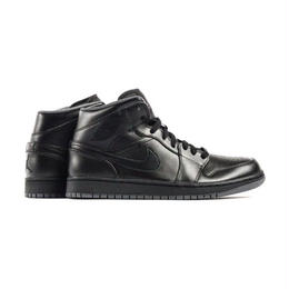 "NIKE ""AIR JORDAN 1 MID"" (BLACK/BLACKーDARK GRAY)"