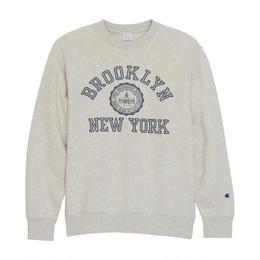 "Champion ""BROOKLYN NEW YORK"" crewneck sweat (Oatmeal)"