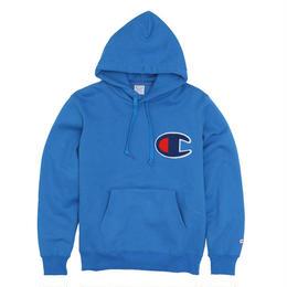 """【残り僅か】Champion """"Big C logo"""" HOODED SWEAT (Blue)"""