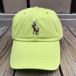 "POLO RALPH LAUREN ""8bit pony '' logo adjuster cap (Lime yellow)"