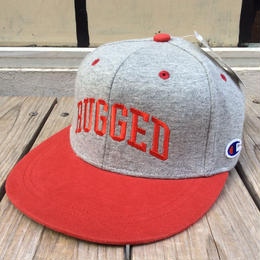 【残り僅か】RUGGED on Champion snapback(Gray×Red)