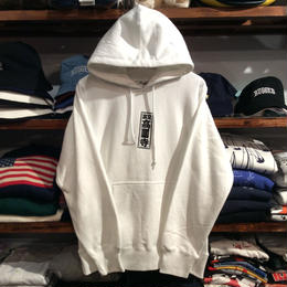 "RUGGED ""東京高円寺"" sweat hoody(White)"