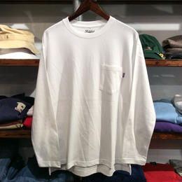RUGGED pocket L/S tee(White)