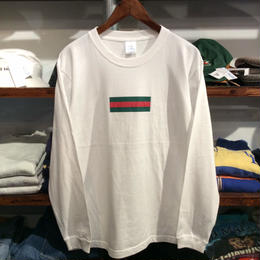 "【残り僅か】GUALA ""GEL BOX"" L/S tee (White)"