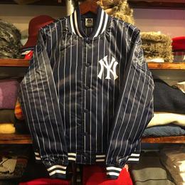 """【ラス1】Majestic """"NY"""" stripe satin jacket(Navy)"""