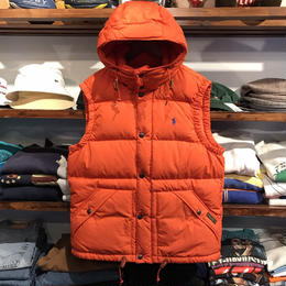 【ラス1】POLO RALPH LAUREN down vest jacket (Orange)