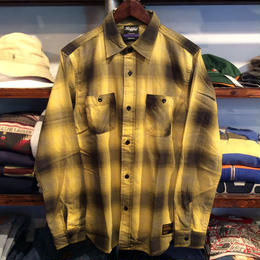 RUGGED shadow check shirt(Yellow)