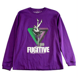 "【ラス1】visualreports ""FUGITIVE"" L/S tee (Purple)"