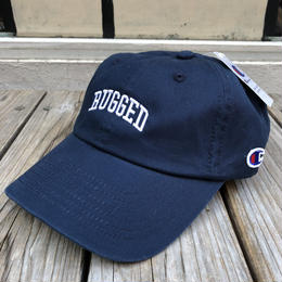 "【ラス1】RUGGED on Champion ""ARCH LOGO"" Leather belt adjuster cap(Navy×White)"