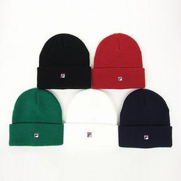 【ラス1】FILA one point logo knit cap