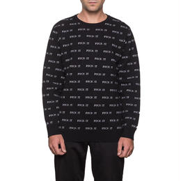 【残り僅か】HUF FUCK IT JACQUARD SWEATER(Black)