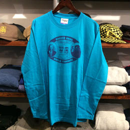 RUGGED ''RUGGED BROS'' L/S tee(Turquoise)