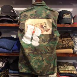 "RUGGED ""欲"" vintage camo shirt  ③ (M)"