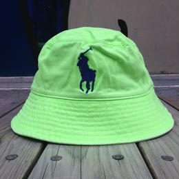 "POLO RALPH LAUREN ""BIG PONY"" bucket hat (Neon Green)"
