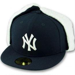 """NEW ERA 59FIFTY """"NY"""" FLURRY FIT DOG EAR CAP(Navy)"""