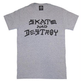 "【ラス1】THRASHER""Skate and Destroy""tee(gray)"