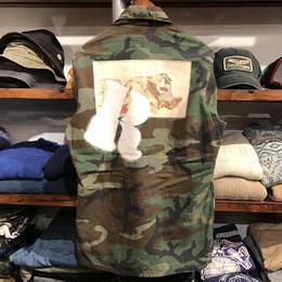 "RUGGED ""欲"" vintage camo shirt  ⑥ (L)"