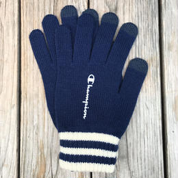【ラス1】Champion logo gloves (Navy)