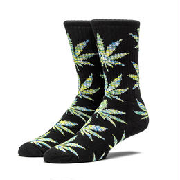 "HUF ""MELANGE PLANTLIFE"" CREW SOCK (Black×Green)"