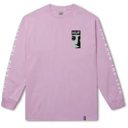 【残り僅か】HUF THE TYPE L/S TEE (Pink)