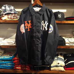 "Majestic ""NEW YORK"" coach jacket (Navy)"