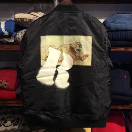 """【残り僅か】RUGGED """"欲"""" MA-1 jacket(Black)"""
