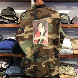 "RUGGED ""OMEZO"" vintage camo shirt  ⑥ (L)"