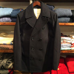 【残り僅か】DENIM&SUPPLY Wool-Blend Melton Pea Coat (Navy)