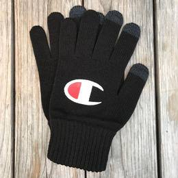 "【残り僅か】Champion logo ""Big C logo"" gloves (Black)"