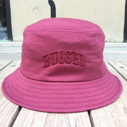 RUGGED on Champion buckethat(Burgundy)