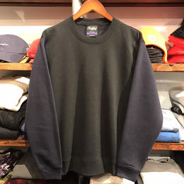 RUGGED bi-color plain sweat (Black×Navy)
