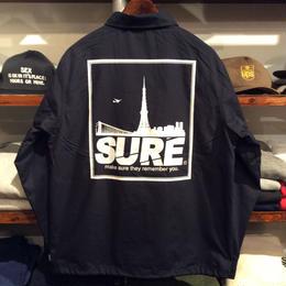 """【残り僅か】RUGGED """"SURE"""" coach jacket(Navy)"""
