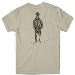 CHOCOLATE SKATEBOARDS EVERYDAY PEOPLE COWBOY PREMIUM TEE-SAND