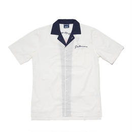 PATERSON SPIN TOP BOWLING SHIRT - WHITE