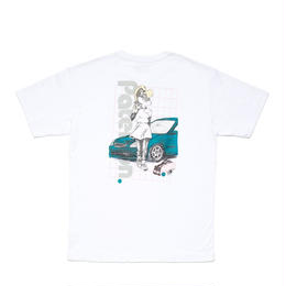PATERSON LOOKER TEE  -  WHITE