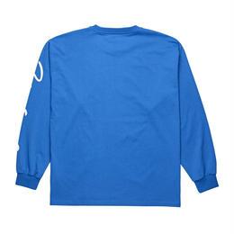 POLAR SKATE CO SIGNATURE LONGSLEEVE- 80's Blue