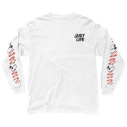 THE QUIET LIFE JARVIS LONG SLEEVE T-WHITE