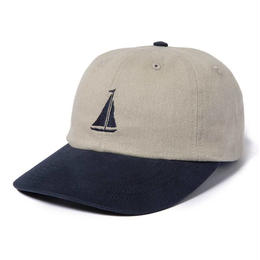 THE QUIET LIFE SAIL POLO HAT - STONE / NAVY
