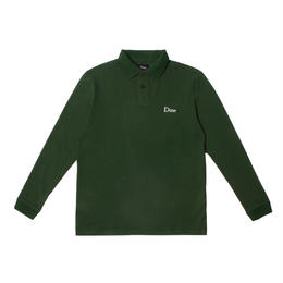 Dime DIME LONG SLEEVE POLO SHIRT-Forest Green.