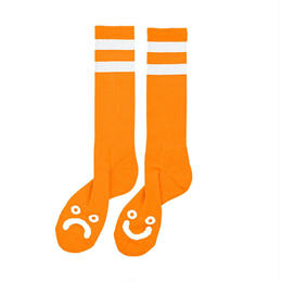 POLAR SKATE CO HAPPY SAD SOCKS-Orange