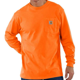 CARHARTT  LONG SLEEVE WORKWEAR POCKET T-SHIRT-Orange