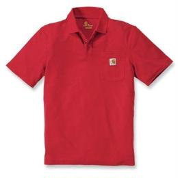 CARHARTT  POCKET POLO - RED